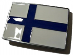 Finland Suomi Belt Buckle + display stand. Code PC8